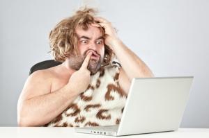 caveman-and-computer