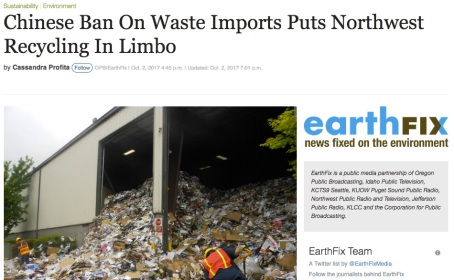 Chinese Ban On Waste Imports